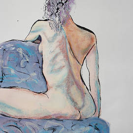 Asha Carolyn Young - Back of a Woman Straddling a Chair