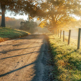 Back Road Morning Square by Bill Wakeley