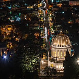 Baha'i Temple At Night by Michael Goyberg