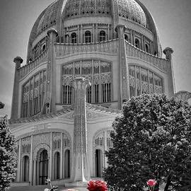 Rudy Umans - Bahai Temple Wilmette in black and white