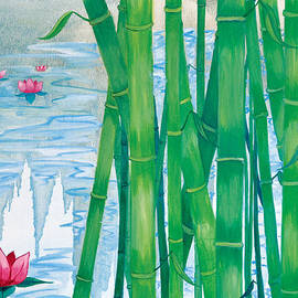 Bamboo in Water by Sarah Tiffany King