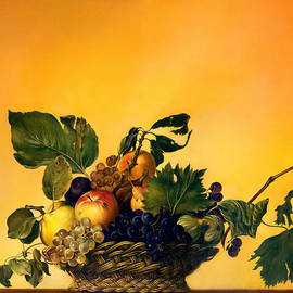 Basket Of Fruit by Anna Ewa Miarczynska