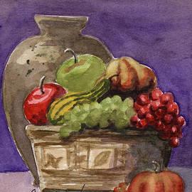 Basket Of Fruit by Linda L Martin