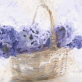 Ann Garrett - Basket of Hyacinth - Digital Painting