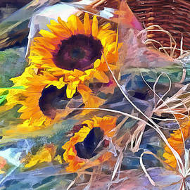 Basket of Sunflowers by Susan Savad