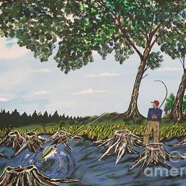 Jeffrey Koss - Bass Fishing In The Stumps