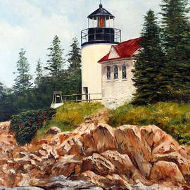 Bass Harbor Head Light by Lee Piper
