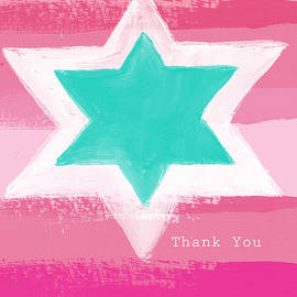 Bat Mitzvah Thank You Card by Linda Woods