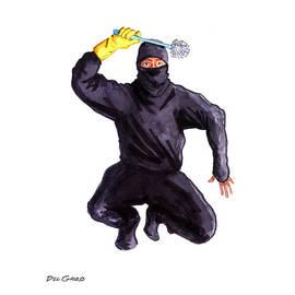 Bathroom Ninja by Del Gaizo