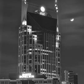 Frozen in Time Fine Art Photography - Batman Building Complete with Bat Signal