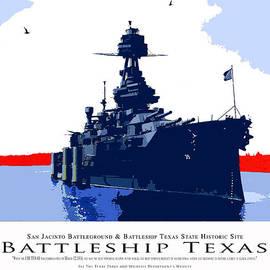 Robert J Sadler - Battleship Texas Poster