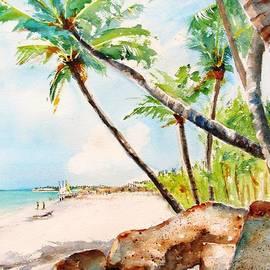 Bavaro Tropical Sandy Beach by Carlin Blahnik CarlinArtWatercolor