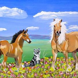 Phyllis Kaltenbach - Bay colt Golden Palomino and Pal