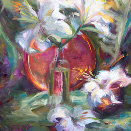 Talya Johnson - Be Still - Casablanca Lilies with Copper
