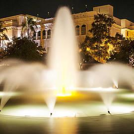 Bea Evenson Fountain At Night by Lee Kirchhevel
