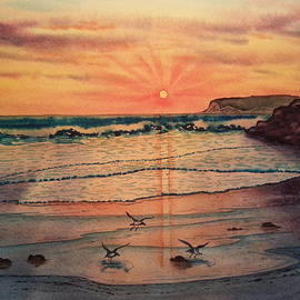TK Alexander - Beach Sunset at Coronado California