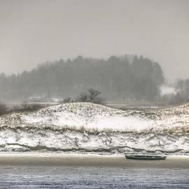David Stone - Beached Boat Winter Storm