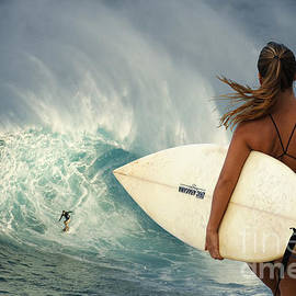 Surfer Girl Meets Jaws by Bob Christopher