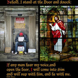 Behold I Stand At The Door And Knock Composite by Thomas Woolworth