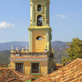Bell tower of church in Cuba by Patricia Hofmeester