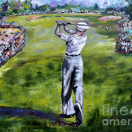 Ben Hogan Golf Painting by Ginette Callaway
