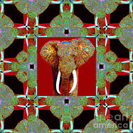 Wingsdomain Art and Photography - Big Elephant Abstract Window 20130201p0