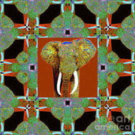 Wingsdomain Art and Photography - Big Elephant Abstract Window 20130201p20
