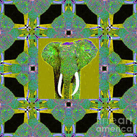 Wingsdomain Art and Photography - Big Elephant Abstract Window 20130201p60
