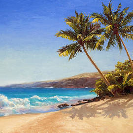 Karen Whitworth - Hawaiian Beach Seascape - Big Island Getaway