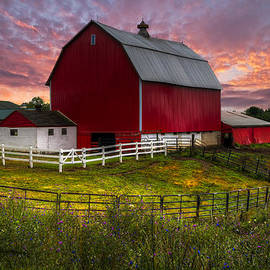 Big Red at Sunset by Debra and Dave Vanderlaan