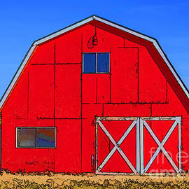 Big Red Barn by Janice Pariza
