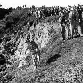 Bing Crosby playing in the rough at Pebble Beach circa 1958 by California Views Archives Mr Pat Hathaway Archives
