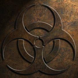 Biohazard Symbol Stone Texture by Brian Carson