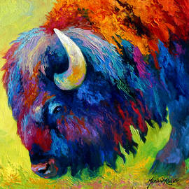 Bison Portrait II by Marion Rose