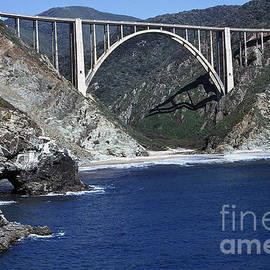 Bixby Creek Bridge from Bixby Landing 1974 photo by Pat Hathaway by California Views Archives Mr Pat Hathaway Archives