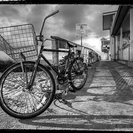 Black and White Beach Bike by Debra and Dave Vanderlaan