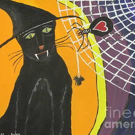 Black Cat In A Hat  by Jeffrey Koss