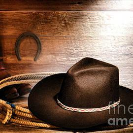 Olivier Le Queinec - Black Felt Cowboy Hat