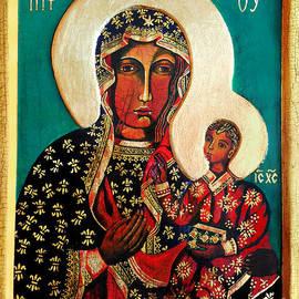 Black Madonna of Czestochowa Icon II by Ryszard Sleczka