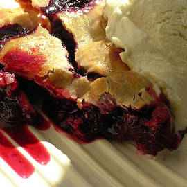 Blackberry Pie A La Mode by James Temple