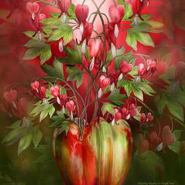 Bleeding Hearts In Heart Vase