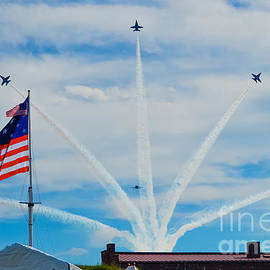 Blue Angels Bomb Burst in Air over Fort McHenry Finale by Jeff at JSJ Photography