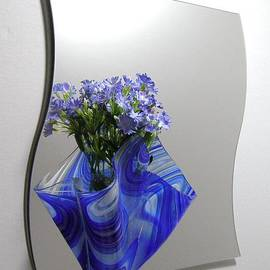 Margie Minichiello - Blue Baroque Sconce