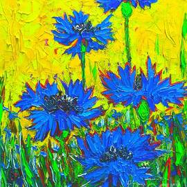 Blue Flowers - Wild Cornflowers In Sunlight  by Ana Maria Edulescu