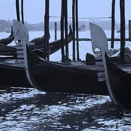 Gondolas in Blue by Nigel Radcliffe