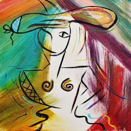 Blue Hat Lady by Janice Pariza
