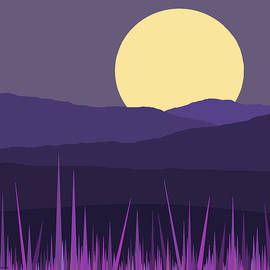 Blue Hills - Lavender Sky by Val Arie