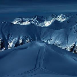 Colette V Hera  Guggenheim  - Blue Hour Ischgl Austrian Mountain