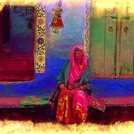 Sue Jacobi - Blue House Pink Lady Jodhpur Rajasthan India