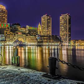 Blue Night over Boston Harbor  by Ludmila Nayvelt